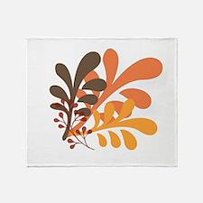friendly Autumn Throw Blanket