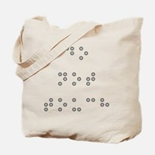 Do Not Touch in Braille (Grey) Tote Bag