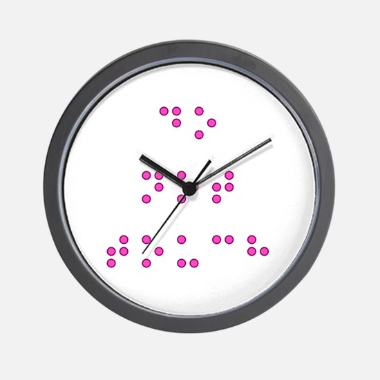 Do Not Touch in Braille (Pink) Wall Clock
