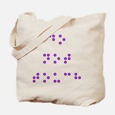 Do Not Touch in Braille (Purple) Tote Bag