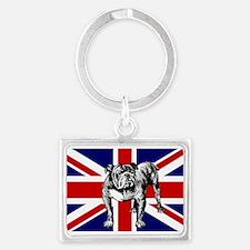 British Bulldog Flag Keychains