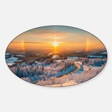 Winter Sunset In The Mountains Decal