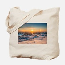 Winter Sunset In The Mountains Tote Bag