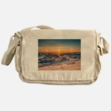 Winter Sunset In The Mountains Messenger Bag
