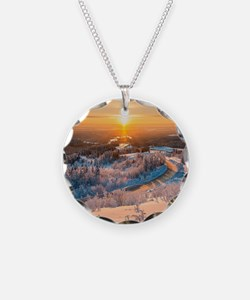 Winter Sunset In The Mountains Necklace
