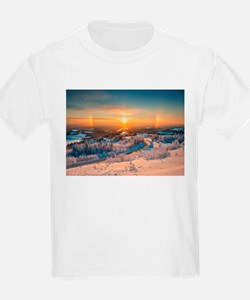 Winter Sunset In The Mountains T-Shirt
