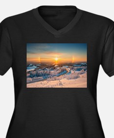 Winter Sunset In The Mountains Plus Size T-Shirt