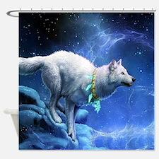 Fantasy Wolf Shower Curtain