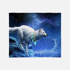 Fantasy Wolf Throw Blanket