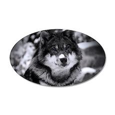 Grey Wolf In Snow Wall Sticker