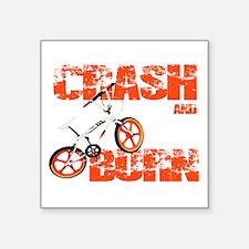 Crash & Burn Retro BMX T-shirt. Sticker