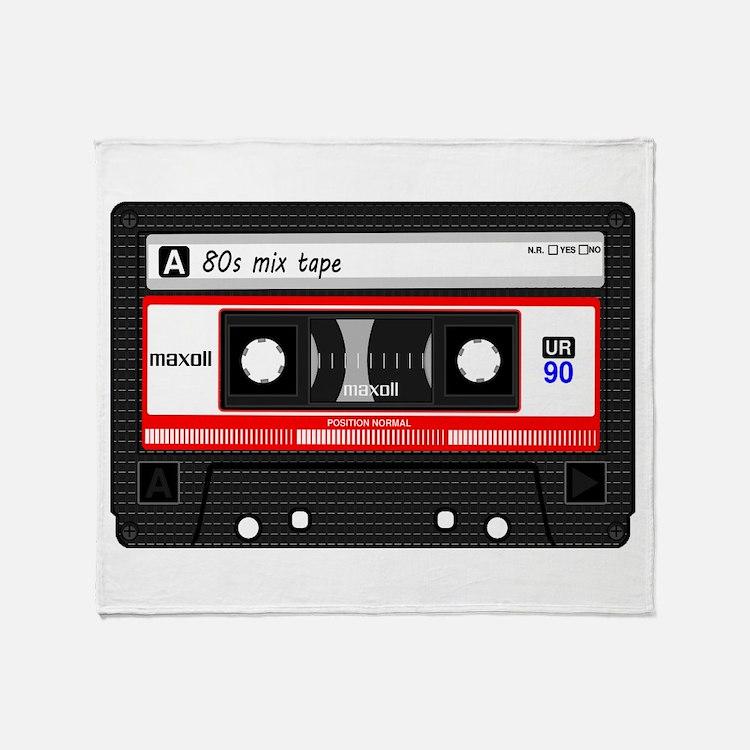 Cute Cassette Throw Blanket