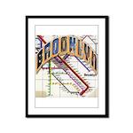 brookly logo Framed Panel Print