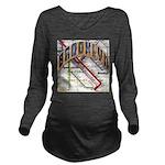 brookly logo Long Sleeve Maternity T-Shirt