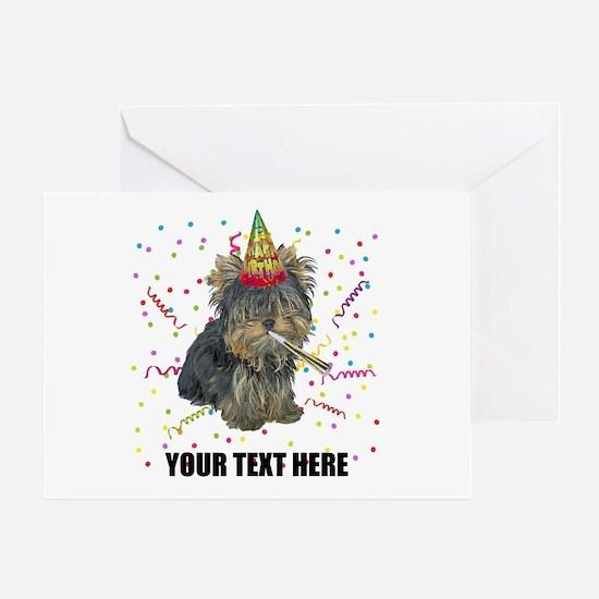 Custom Yorkie Birthday Greeting Card