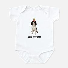 Custom Springer Spaniel Birthday Infant Bodysuit