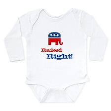 Unique Baby republican Long Sleeve Infant Bodysuit