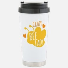 Crazy Bee Lady Stainless Steel Travel Mug