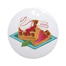 Berry Waffles Round Ornament