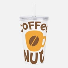 Coffee NUT with cute o Acrylic Double-wall Tumbler