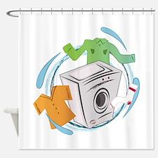 wash shower curtain in washing machine