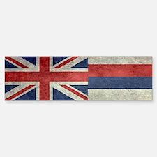 State Flag of Hawaii, retro style Bumper Bumper Bumper Sticker