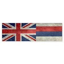 State Flag of Hawaii, retro style Bumper Car Sticker