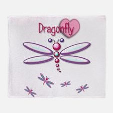 Colorful Dragonfly Throw Blanket