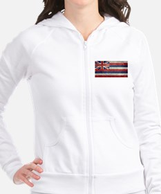 State Flag of Hawaii, retro style Pullover Hoodie
