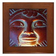Mexico Aztec Sun God Framed Tile
