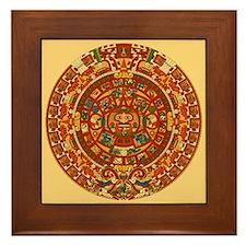 Mexico Aztec Sun Calendar Framed Art Tile