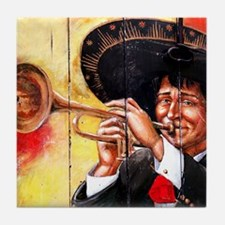 Mariachi Trumpet Player Art Tile Coaster