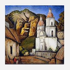 Ramos Martinez Iglesia Texcoco Art Tile Coaster