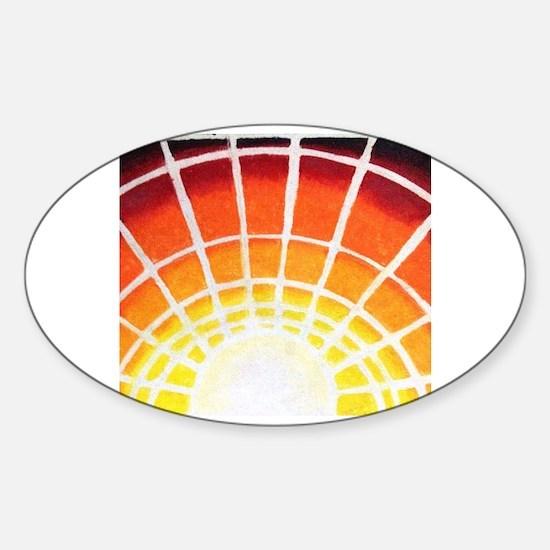Cute Sunburst Sticker (Oval)