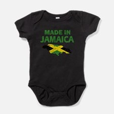 Unique Jamaican flag Baby Bodysuit