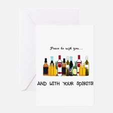 Cute Armadillo wine beer bottle holder Greeting Card