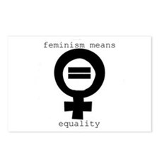 Postcards (Package of 8) - Feminism means equalit