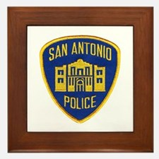 San Antonio Police Framed Tile