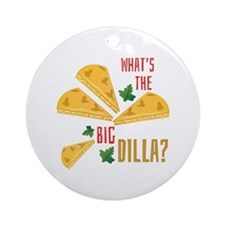 The Big Dilla Round Ornament