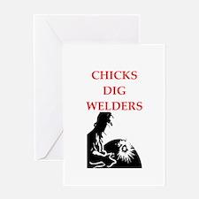 welder Greeting Cards
