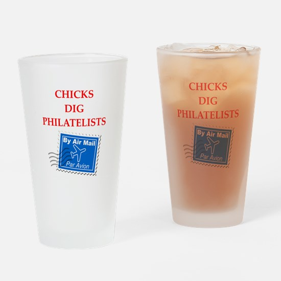 philatelist Drinking Glass