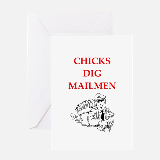mailman Greeting Cards