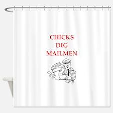 mailman Shower Curtain