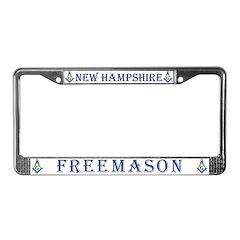 New Hampshire Freemasons License Plate Frame