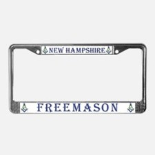 New Hampshire Freemasons License Plate Frame