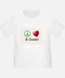 Oeace Love Goats T-Shirt