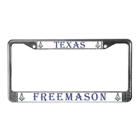 Texas Freemason License Plate Frame