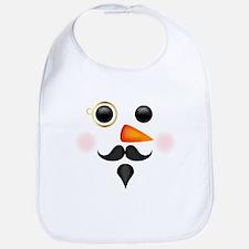 Fancy Snowman Face Bib