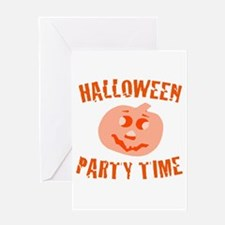 Halloween Party Time Greeting Card