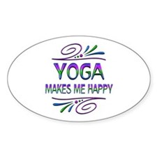 Yoga Makes Me Happy Decal